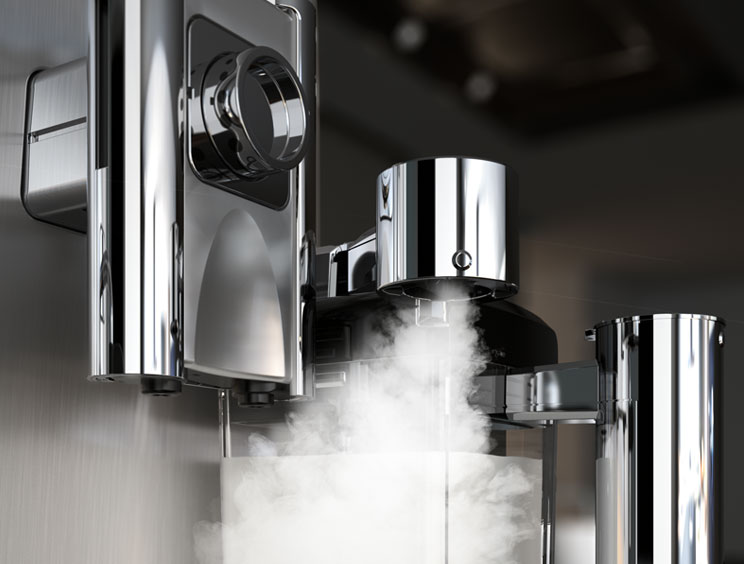 Steam Emerging From Machine
