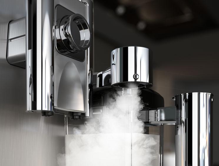 Steam Emerging From Machine
