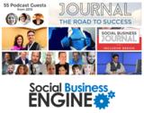 Social business engine logo transparent bg