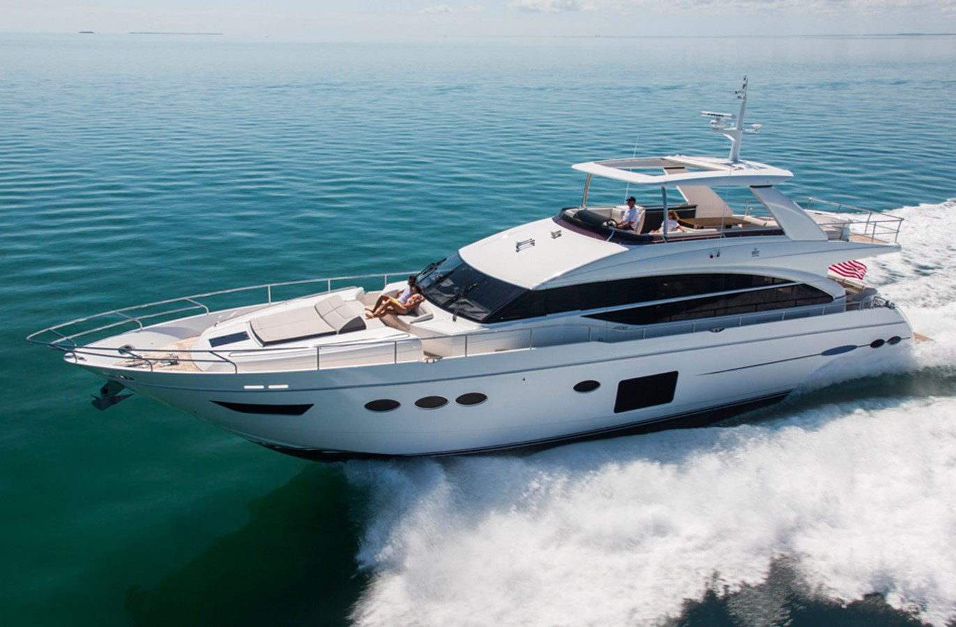 New princess 82 flybridge motor yacht for sale galati for Large motor yachts for sale