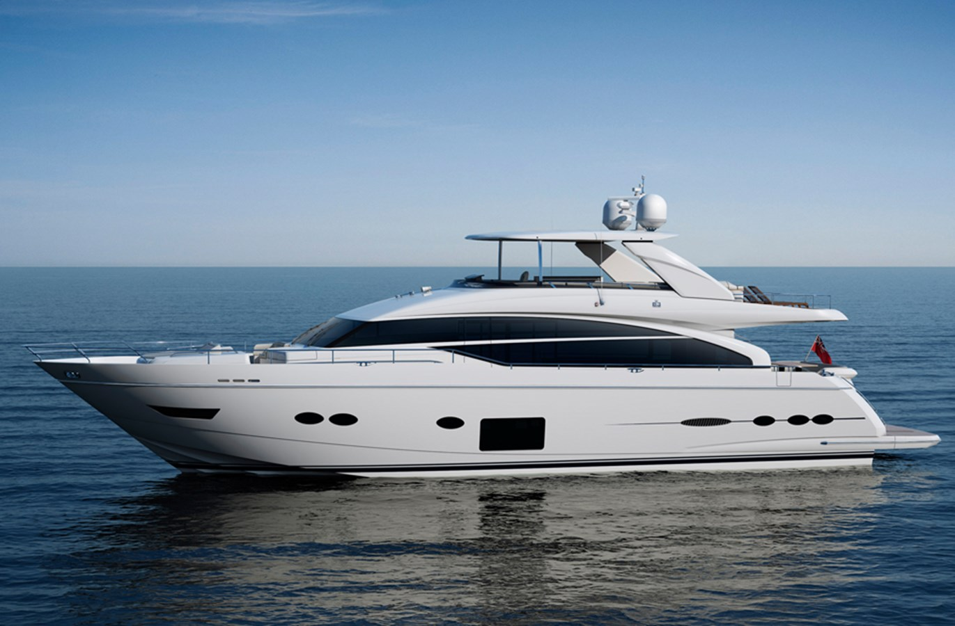 New princess 88 flybridge motor yacht for sale galati for Large motor yachts for sale