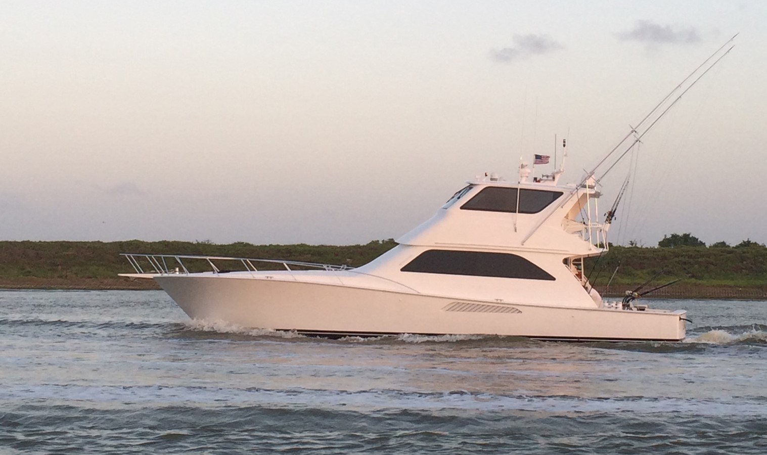 2001 VIKING 61 Enclosed Bridge For Sale