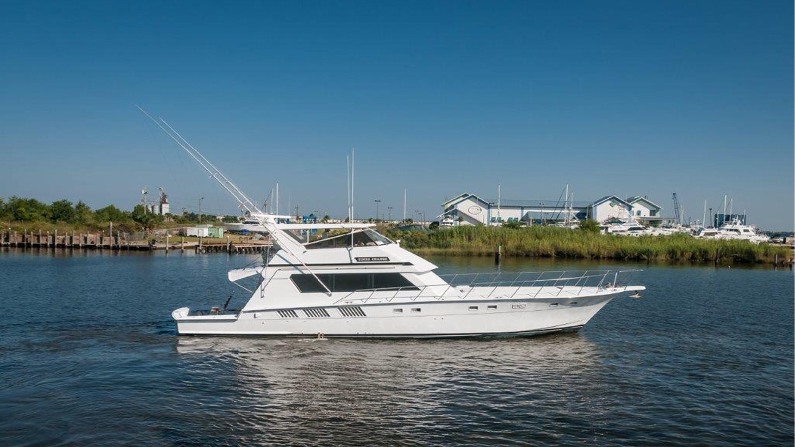 1987 HATTERAS 65  Convertible For Sale