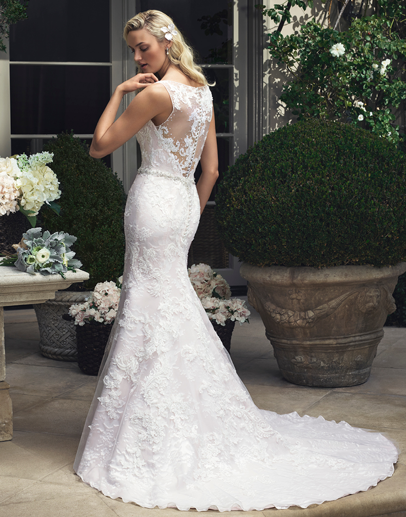 ... @BridalPulse Wedding Dress Gallery | Casablanca Bridal Fall 2015 |  Floor Ivory Mermaid / Trumpet