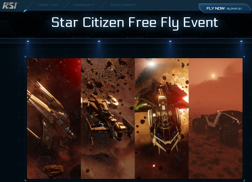 image result for star citizen game free fly event