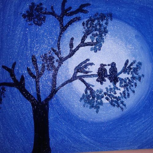 love birds, 6 x 8 inch, jhancy sethunath,paintings,animal paintings,paintings for bedroom,canvas,oil,6x8inch,GAL0440610013
