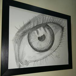 eye, 14 x 11 inch, shruti kapoor,realism drawings,paintings for office,thick paper,charcoal,14x11inch,GAL0224010015