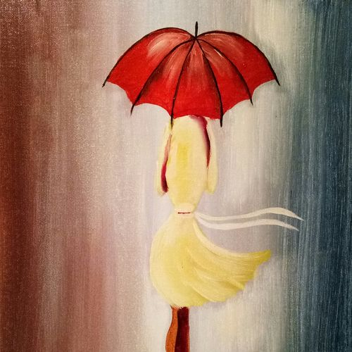 walking alone, 16 x 20 inch, shruti kapoor,paintings,cityscape paintings,paintings for living room,canvas,oil paint,16x20inch,GAL0224010016