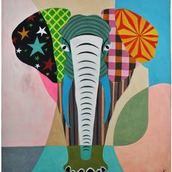 elephant_0202018, 11 x 13 inch, nitesh suthar,paintings,elephant paintings,paintings for bedroom,drawing paper,watercolor,11x13inch,GAL084610028