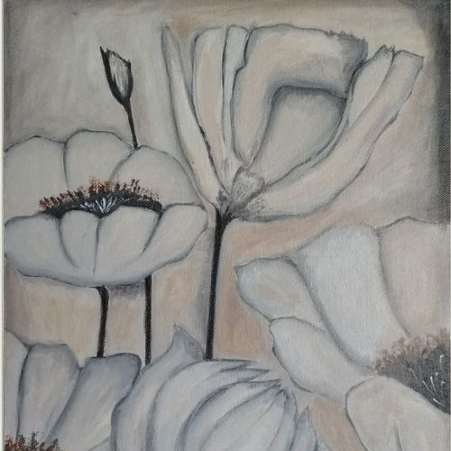 flower_1, 12 x 16 inch, nitesh suthar,paintings,paintings for living room,nature paintings,paintings for bedroom,paintings for office,canvas,acrylic color,12x16inch,GAL084610029Nature,environment,Beauty,scenery,greenery