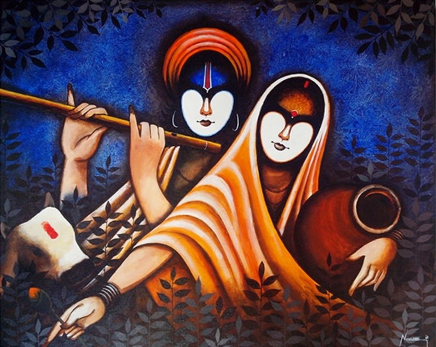 radha krishan, 14 x 10 inch, harpreet kaur,religious paintings,paintings for dining room,radha krishna paintings,love paintings,ivory sheet,fabric,14x10inch, lord,krishna,radha,Radhakrishna,flute,music,love,couple,lordkrishna,religious,GAL04391006heart,family,caring,happiness,forever,happy,trust,passion,romance,sweet,kiss,love,hugs,warm,fun,kisses,joy,friendship,marriage,chocolate,husband,wife,forever,caring,couple,sweetheart,krishna,Lord krishna,krushna,radha krushna,flute,peacock feather,melody,peace,religious,god,love,romance