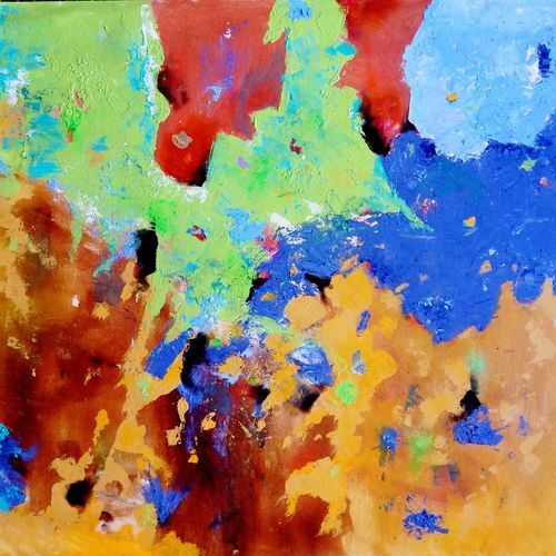 nature's way, 26 x 26 inch, sandeep rawal ,abstract paintings,paintings for dining room,canvas,acrylic color,26x26inch,GAL0251110070