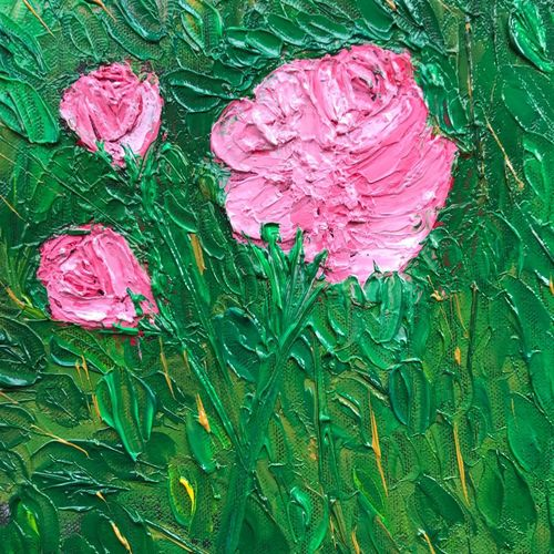 roses, 10 x 8 inch, sandhya  jathar,paintings,nature paintings,paintings for living room,canvas,oil,10x8inch,GAL0443210076Nature,environment,Beauty,scenery,greenery