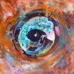 the third eye, 24 x 26 inch, sandeep rawal ,abstract paintings,paintings for dining room,canvas,acrylic color,24x26inch,GAL0251110087