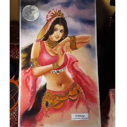 nishipadma, 24 x 36 inch, suraj meher,paintings,portrait paintings,paintings for bedroom,canvas,acrylic color,24x36inch,GAL0445010126