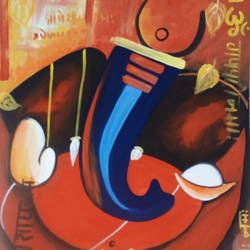 modern ganesha, 15 x 22 inch, akshaya chaudhary,modern art paintings,paintings for living room,ganesha paintings,drawing paper,poster color,15x22inch,GAL0445910136,vinayak,ekadanta,ganpati,lambodar,peace,devotion,religious,lord ganesha,lordganpati,ganpati,ganesha,lord ganesh,elephant god,religious,ganpati bappa morya,ganpati bappa morya,ganesh chaturthi,ganesh murti,elephant god,religious,lord ganesh,ganesha,om,hindu god,shiv parvati, putra,bhakti,blessings,aashirwad,pooja,puja,aarti,ekdant,vakratunda,lambodara,bhalchandra,gajanan,vinayak,prathamesh,vignesh,heramba,siddhivinayak,mahaganpati,omkar,mushak,mouse,ladoo,modak