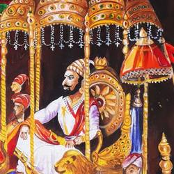 shree shivaji maharaj, 12 x 12 inch, viral gor,paintings,conceptual paintings,paintings for office,canvas board,oil,12x12inch,GAL065210142