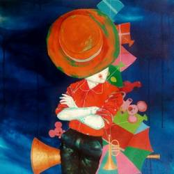 the passion of childhood, 20 x 30 inch, shiv kumar soni,abstract paintings,paintings for living room,canvas,acrylic color,20x30inch,GAL0301016