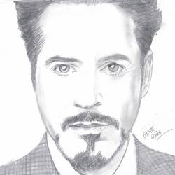 robert downey jr, 8 x 12 inch, vp singh,drawings,figurative drawings,paintings for living room,paper,charcoal,8x12inch,GAL0449410173