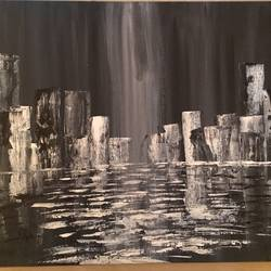 cotylights, 12 x 16 inch, soumya kulkarni,abstract paintings,paintings for bedroom,canvas,acrylic color,12x16inch,GAL0109910221