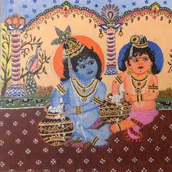 krishna balram, 16 x 20 inch, kamala gopalakrishnan,paintings,religious paintings,paintings for living room,canvas,acrylic color,16x20inch,GAL0454810234
