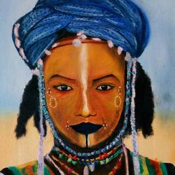 african, 18 x 21 inch, sagar jakz,paintings,portrait paintings,paintings for living room,canvas,oil,18x21inch,GAL0457010302