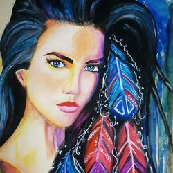 lady, 11 x 14 inch, sagar jakz,paintings,portrait paintings,brustro watercolor paper,watercolor,11x14inch,GAL0457010322