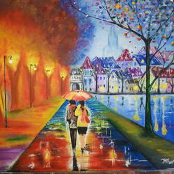 love in the spring, 34 x 22 inch, sagar jakz,paintings,modern art paintings,paintings for hotel,canvas board,oil,34x22inch,GAL0457010365