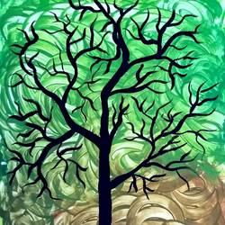 modern tree, 7 x 10 inch, suganya naveenkumar,paintings,modern art paintings,paintings for living room,thick paper,poster color,7x10inch,GAL0456310380