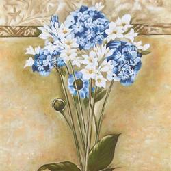 White and Blue Flowers art print by Gallerist