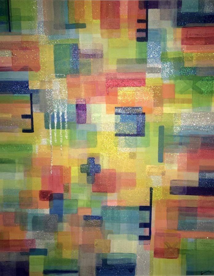 colour fix, 40 x 30 inch, sarina smith,abstract paintings,paintings for bedroom,canvas,mixed media,40x30inch,GAL042104