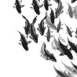 Group of fishes art print by Gallerist