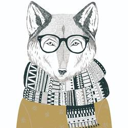 The Fox with specks art print by Gallerist