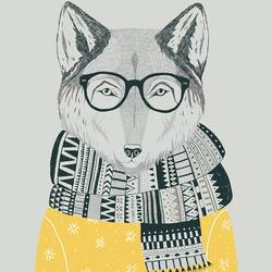 Fox art print by Gallerist