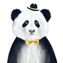 Panda art print by Gallerist