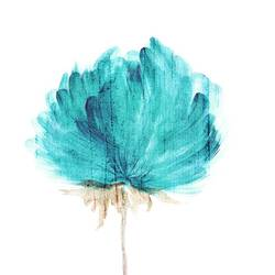 Pecock blue Flower art print by Gallerist