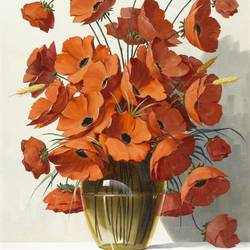 The orange flower pot art print by Gallerist