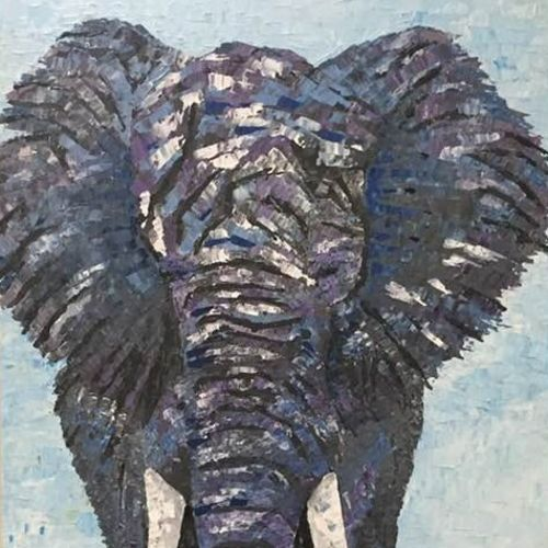 royal, 24 x 48 inch, shilpi singh patel,paintings,wildlife paintings,paintings for hotel,animal paintings,elephant paintings,canvas,acrylic color,24x48inch,GAL045510454