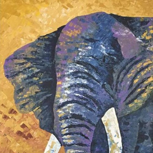 elephant, 24 x 48 inch, shilpi singh patel,paintings,wildlife paintings,paintings for hotel,elephant paintings,canvas,acrylic color,24x48inch,GAL045510455