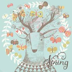 Spring Deer art print by Gallerist