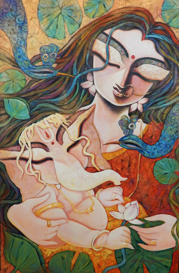 gift of love, 20 x 30 inch, subrata ghosh,ganesha paintings,paintings for dining room,love paintings,paintings for living room,paintings for bedroom,paintings for office,paintings for hospital,canvas,acrylic color,20x30inch,GAL04021047,vinayak,ekadanta,ganpati,lambodar,peace,devotion,religious,lord ganesha,lordganpatiheart,family,caring,happiness,forever,happy,trust,passion,romance,sweet,kiss,love,hugs,warm,fun,kisses,joy,friendship,marriage,chocolate,husband,wife,forever,caring,couple,sweetheart