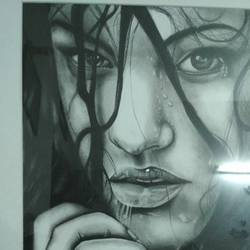 charcoal, 12 x 17 inch, kailash apartment,drawings,portrait drawings,paintings for dining room,handmade paper,charcoal,12x17inch,GAL0458710474