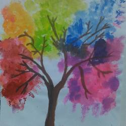 add colours to your life, 8 x 12 inch, likhitha ramesh,nature paintings,paintings for bedroom,renaissance watercolor paper,watercolor,8x12inch,GAL04431050Nature,environment,Beauty,scenery,greenery,colorful,trees