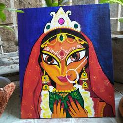 bengali bride, 10 x 12 inch, chandni mishra,paintings,figurative paintings,paintings for living room,canvas,acrylic color,10x12inch,GAL0139910546