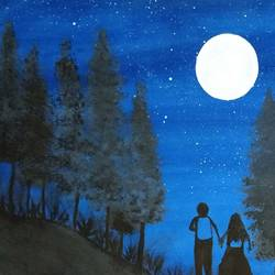 lovely night view, 11 x 13 inch, suganya naveenkumar,paintings,love paintings,paintings for bedroom,thick paper,poster color,11x13inch,GAL0456310560heart,family,caring,happiness,forever,happy,trust,passion,romance,sweet,kiss,love,hugs,warm,fun,kisses,joy,friendship,marriage,chocolate,husband,wife,forever,caring,couple,sweetheart