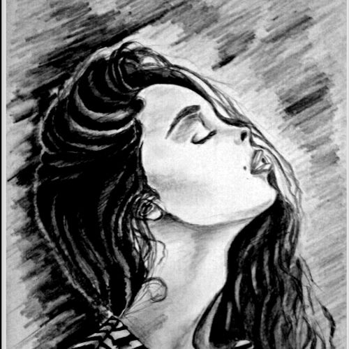 locks, 12 x 8 inch, rupal akanksha,fine art drawings,paintings for living room,thick paper,pencil color,12x8inch,GAL03251057