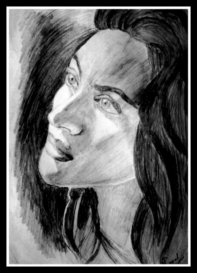oblivion, 10 x 13 inch, rupal akanksha,fine art drawings,paintings for living room,thick paper,pencil color,10x13inch,GAL03251060