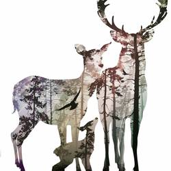 Three Deer 1 art print by Gallerist