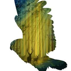 Flying bird 3 art print by Gallerist