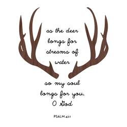 Deer thorns art print by Gallerist